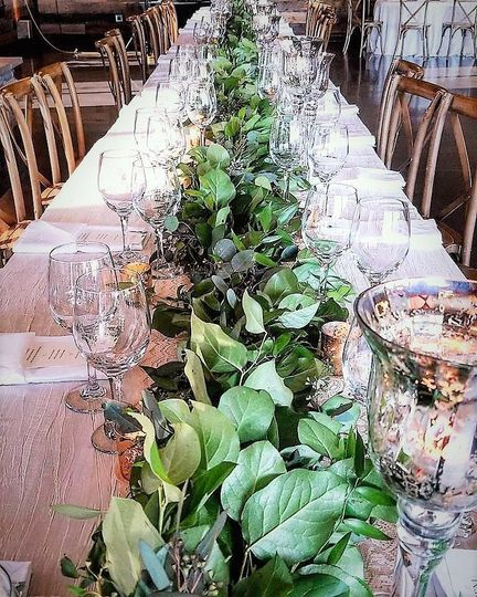 Centerpiece by nicole smedley event designs