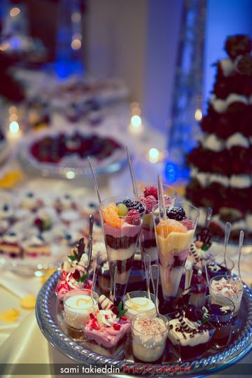 Sweet wedding desserts