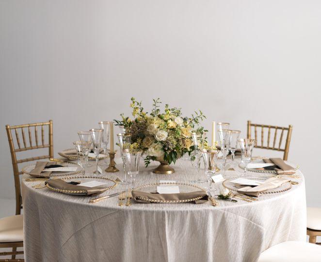 Table, chair, & decor rental
