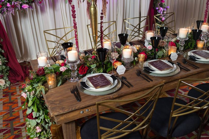 Chair, table and decor rental