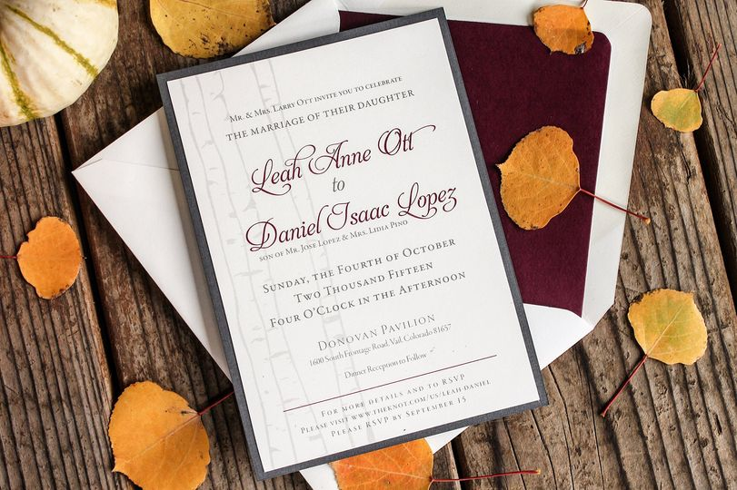 Fall Tree invitations
