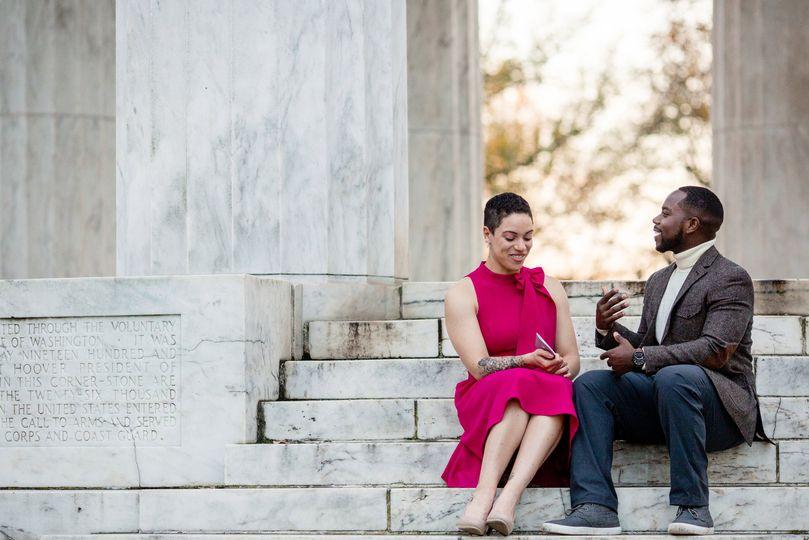 couple sharing vows at dc war memorial1 51 777165 161751134422390
