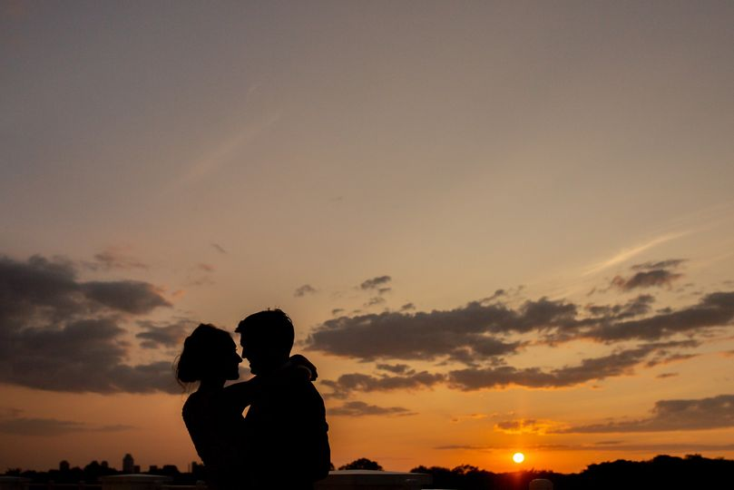 sunset with wedding couple huging arlington va 1 51 777165 161751123733972