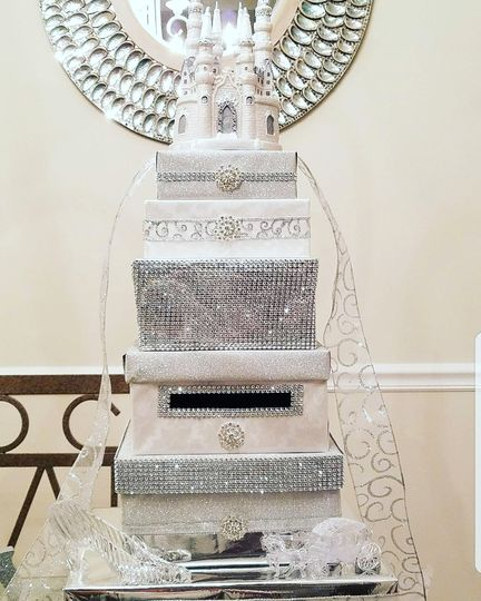 Cinderella wedding card box
