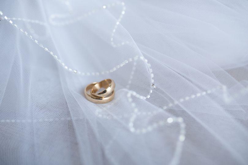 white rings wedding