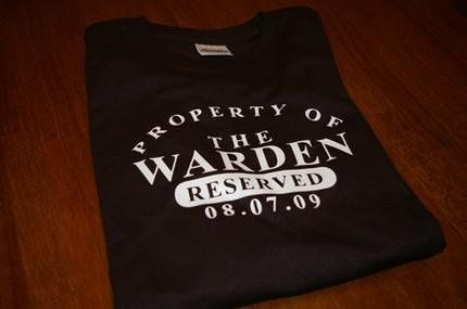"Property of the Bride - ""Warden"""