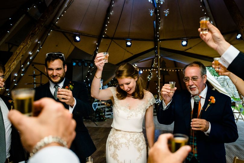 A toast to the happy couple