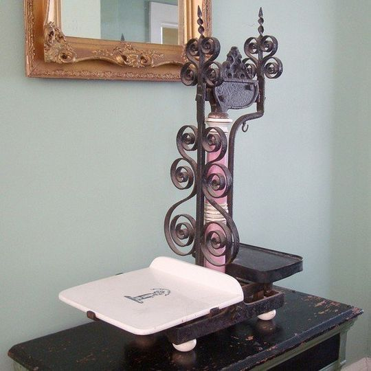 Antique Victorian-era grocers scale - the perfect statement piece for a dessert buffet!
