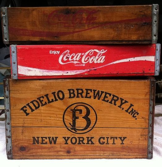 Vintage wooden beverage crates...we have over 30 to choose from!