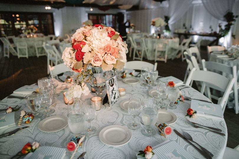 Table theme for summer wedding