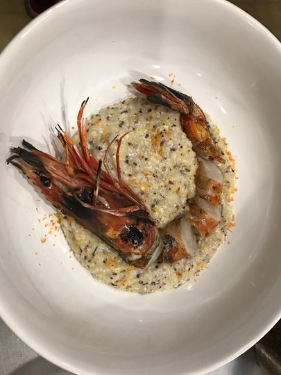 Grits and delicate presentation