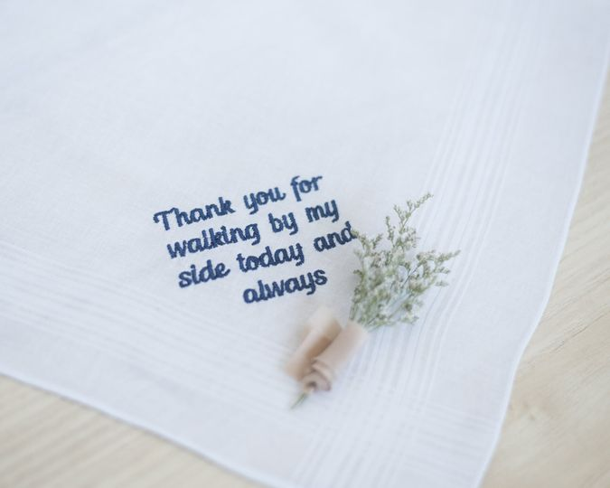 Hankie for the father of the bride