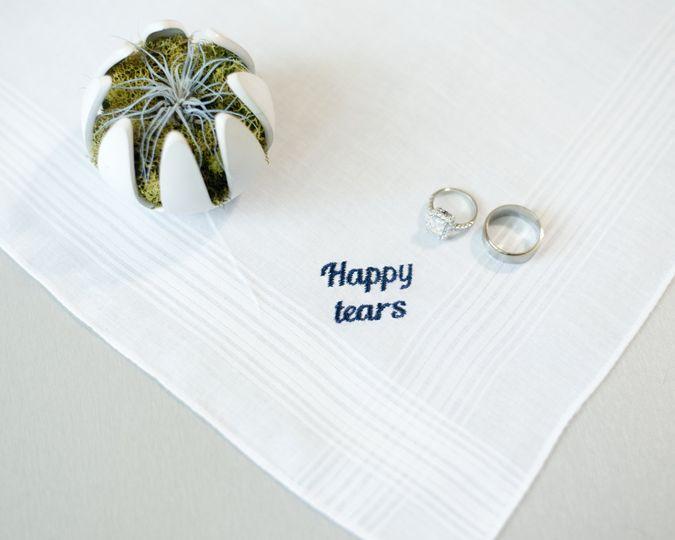 Happy tears custom hankie