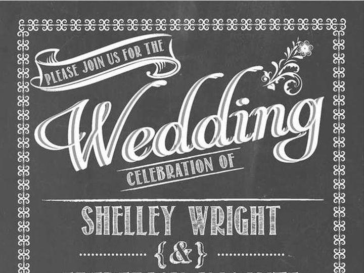 Tmx 1499968791255 Chalkboard Rocky Hill, CT wedding invitation
