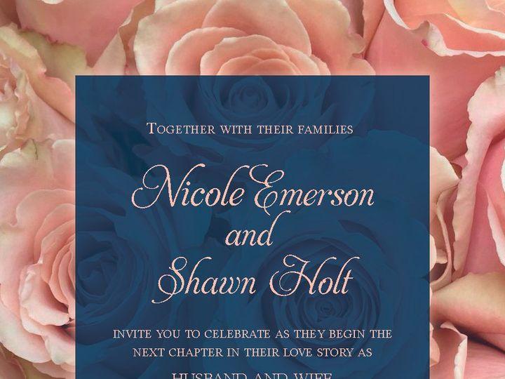 Tmx Navy And Blush Designs20192 51 981265 161167776698834 Rocky Hill, CT wedding invitation