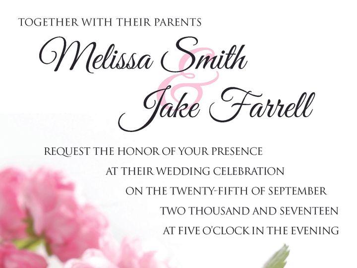 Tmx Peony Invite 51 981265 161167796591017 Rocky Hill, CT wedding invitation