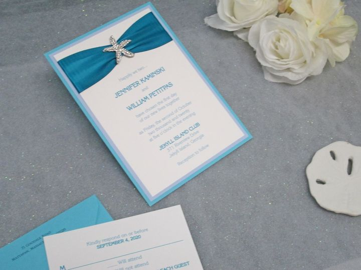 Nautical Invite w/ Starfish