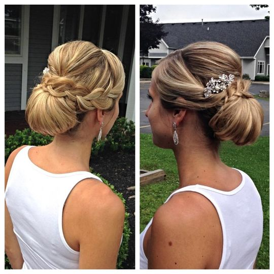 updo with braid