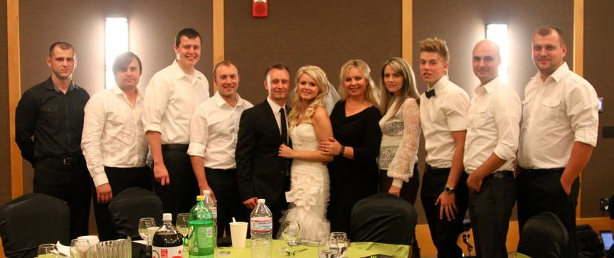 The band with the couple