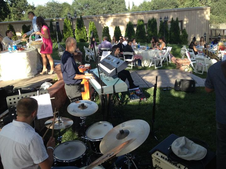 Band performance at wedding reception