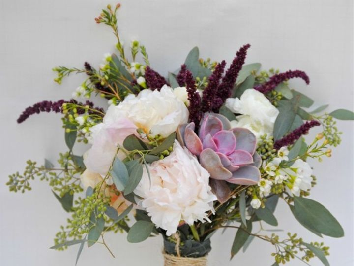 Tmx 1483644014329 Diy Burgundy Bridal Bouquet Los Angeles wedding florist