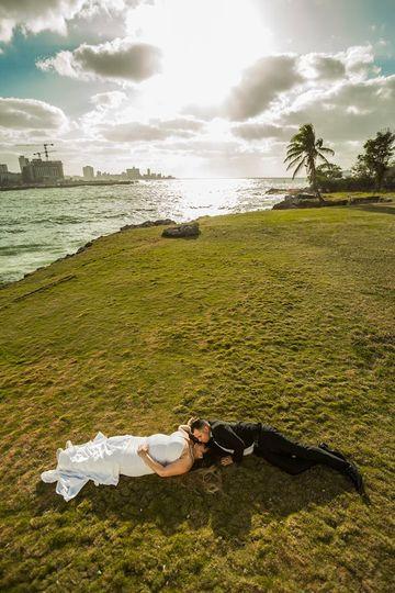 Fotografía de boda con drone