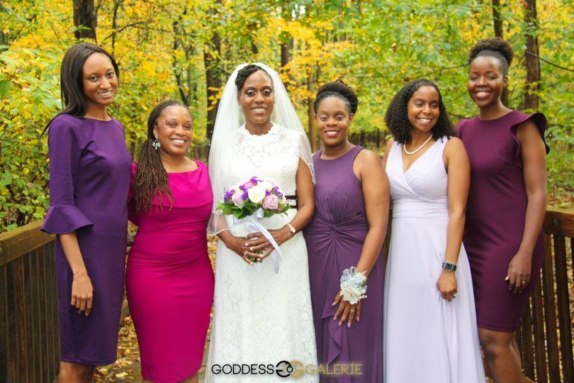 Autumn bridal party