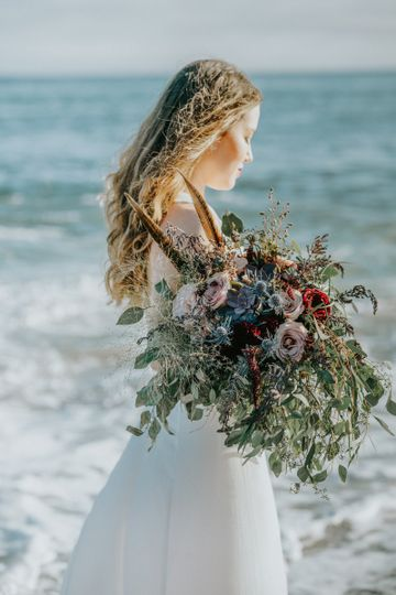 Wild and Whimsical, Boho Bridal Bouquet - Royal Bee Florals and Events