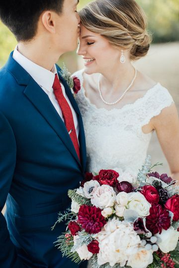 Burgundy and blush california winter wedding - royal bee florals and events