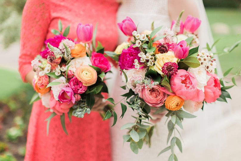 Peony and Garden Rose Summer Wedding Bouquets - Royal Bee Florals and Events