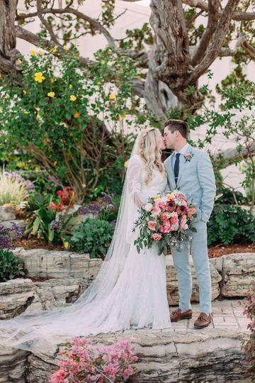 Lush Boho Peony and Protea Bridal Bouquet