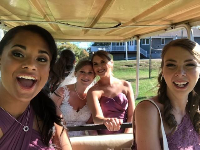Bridal Party Golf Cart Ride