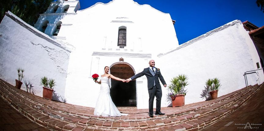 valerie and raul mission san diego de alcala weddi