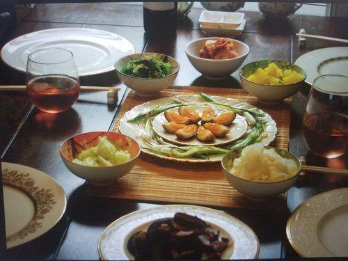 Japanese farm dinner