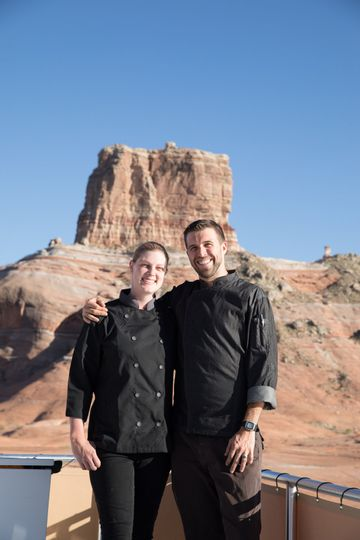 Cooking in lake powell