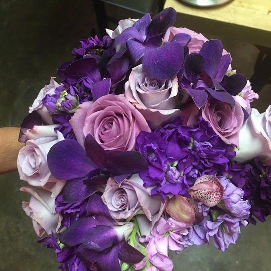 Purple to represent devotion