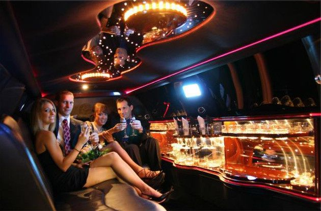 dinner in style limousine
