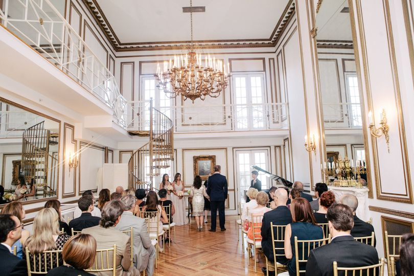 Ceremony taking place in the Grand Salon