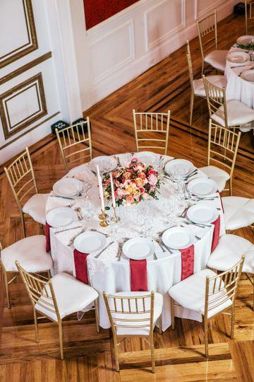 Simple white table setup