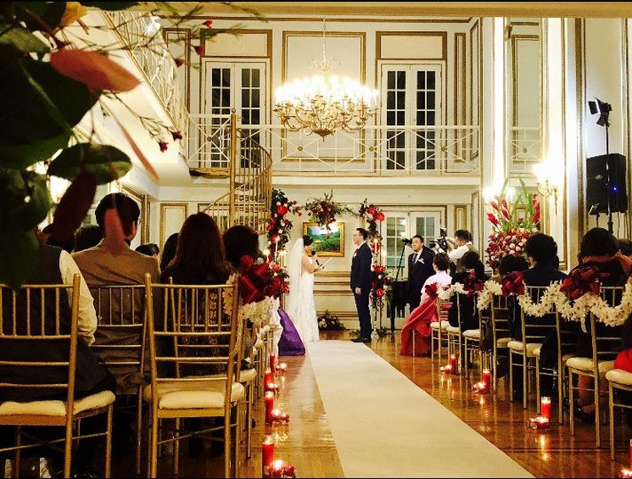Grand Salon during a wedding ceremony