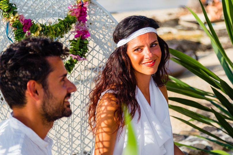 During the polynesian wedding