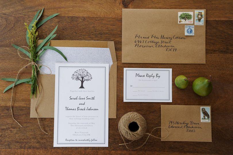 Earth Tree of Life Wedding Invitation Set