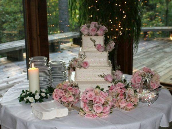 Wedding cake at Big Creek Wildlife Lodge 9/07