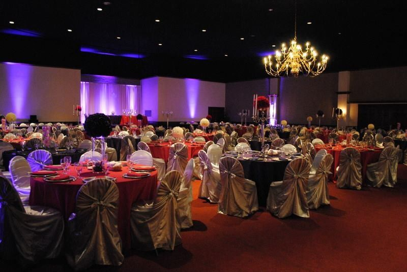 Gold and red reception design