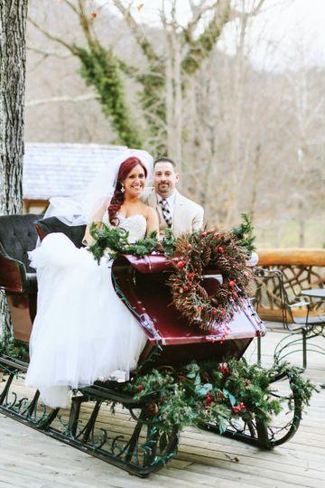 Newlyweds on the sled