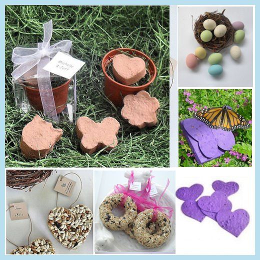 Blooming Flower Favors and Bird Seed Favors for Weddings