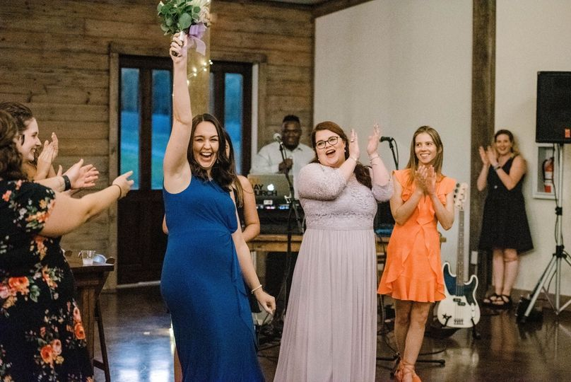 Bouquet Toss Winner