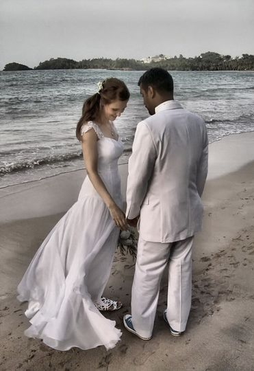A ceremony by the ocean