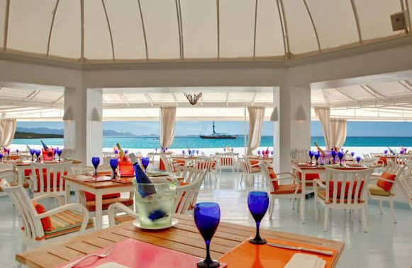 Blue Restaurant with ocean views at Cap Juluca.