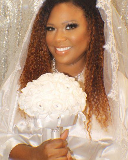 Bronzed bomb bride
